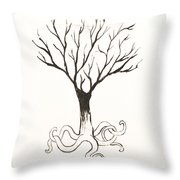 Octopus Tree Throw Pillow