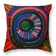 Ocular Energy Path Throw Pillow by Daina White