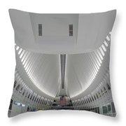 Oculus World Trade Center Wtc Transportation Hub Throw Pillow