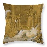 Odalisque With Slave Throw Pillow