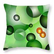 Odd Abstract Throw Pillow