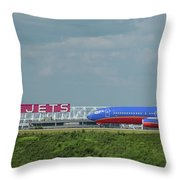 Odd Couple Delta Airlines Southwest Airlines Art Throw Pillow