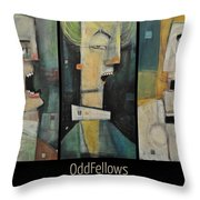 Odd Fellows Triptych Throw Pillow