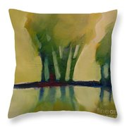 Odd Little Trees Throw Pillow by Michelle Abrams