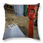 Odds And Ends And Shapes Throw Pillow
