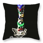 Odds Stacked Up Throw Pillow