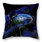 Oddysea Throw Pillow