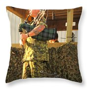 Ode To A Machine Gun Throw Pillow