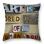 Ode To Art Throw Pillow by Jill Reger