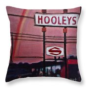 Ode To Hooley's Throw Pillow