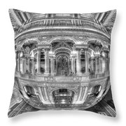 Ode To Mc Escher Library Of Congress Orb Horrizontal Throw Pillow