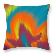 Ode To The Ultimate Warrior Throw Pillow
