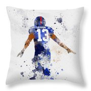 Odell Beckham Jr Throw Pillow