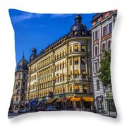 Odion Hotel Throw Pillow