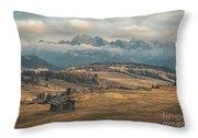 Odle Mountains - Alpe Di Siusi Throw Pillow