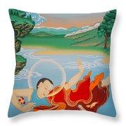 Odren Pelgi Wangchuk Throw Pillow
