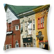 Odyssey Records  On  Cannery Row Monterey 1976 Throw Pillow