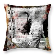 Of Elephants And Men Throw Pillow