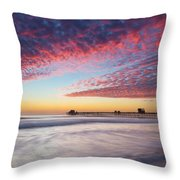 Of Milk Shakes And Cotton Candy Throw Pillow
