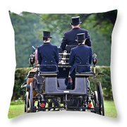 Of More Gentile Times Throw Pillow by Meirion Matthias