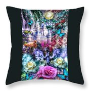 Of Phoenix And Rose Throw Pillow