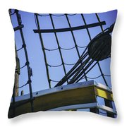 Of Rope And Wood Throw Pillow