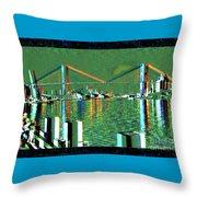 Of Time And The Savannah River Bridge Throw Pillow