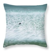 Off To Catch A Wave Throw Pillow