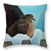 Of Winters Past Throw Pillow