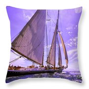 Off And Running Throw Pillow