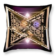Off At Tangents Throw Pillow