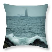 Off Cape Elizabeth Maine Throw Pillow