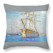 Off Falmouth Throw Pillow