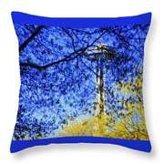 Off In Space Throw Pillow