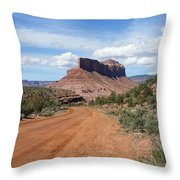 Off Road On The Red Rock Throw Pillow