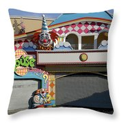 Off Season Boardwalk Throw Pillow