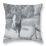 Off She Goes Throw Pillow