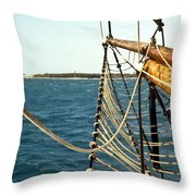 Off The Bow Throw Pillow