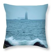 Off The Coast Of Cape Elizabeth Throw Pillow