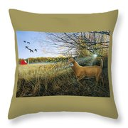 Off The Line Throw Pillow