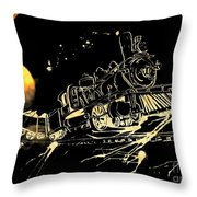 Off The Rails Throw Pillow by Denise Tomasura