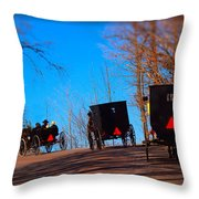 Off To Church Throw Pillow