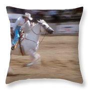 Off To The Races Throw Pillow