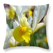 Office Art Botanical Iris Flower Garden Giclee Prints Baslee Troutman Throw Pillow