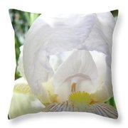 Office Art Irises White Iris Flower Floral Giclee Prints Baslee Troutman Throw Pillow