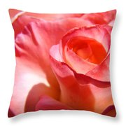 Office Art Pink Rose Spiral Roses Giclee Prints Baslee Troutman Throw Pillow
