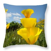 Office Art Poppy Flowers Poppies Giclee Prints Baslee Troutman Throw Pillow