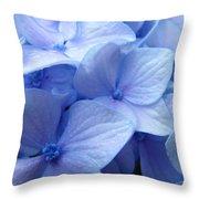 Office Art Prints Blue Hydrangea Flowers Giclee Baslee Troutman Throw Pillow