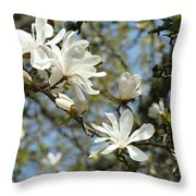 Office Art Prints Magnolia Tree Flowers Landscape 15 Giclee Prints Baslee Troutman Throw Pillow