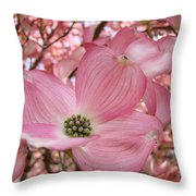 Office Art Prints Pink Flowering Dogwood Tree 1 Giclee Prints Baslee Troutman Throw Pillow
